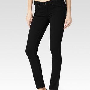 PAIGE Peg Ankle Black Skinny Jeans